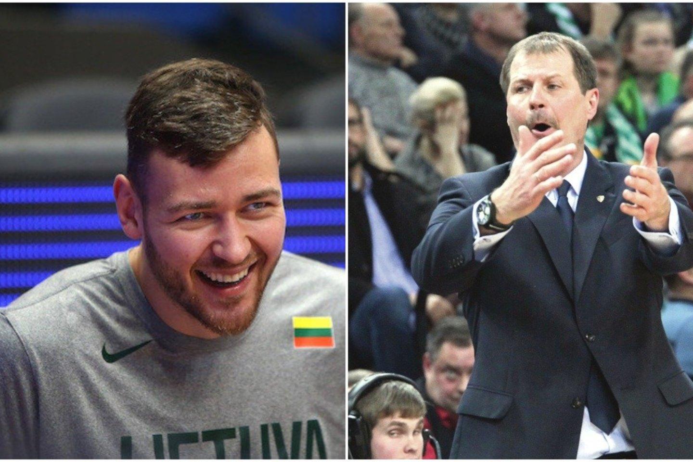 Stabdomas Kinijos krepšinio čempionatas: D. Motiejūnas grįžo į Lietuvą, G. Krapikas – nežinioje.<br>lrytas.lt montažas