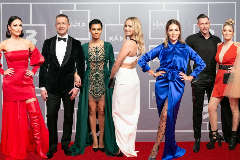 Iš kairės: Karina Krysko, Martynas Tyla su Neringa Zeleniūte, Goda Alijeva, Daina Bosas, Edgaras Eidėjus su Natalija Bunke.<br>T.Bauro ir V.Skaraičio nuotr.