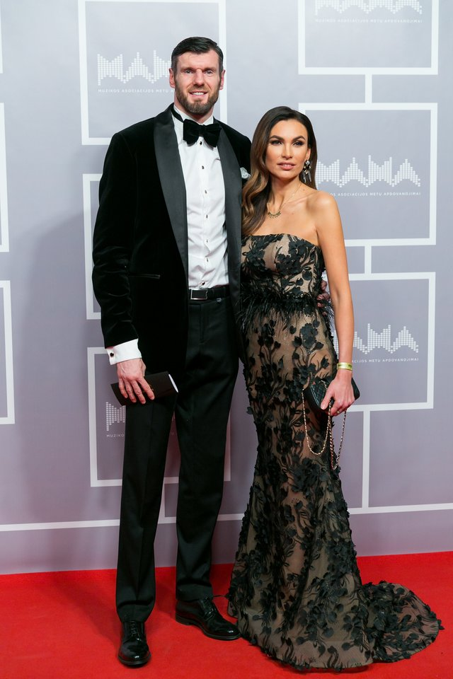 Kšištofas Lavrinovičius su žmona Tatjana.<br>T.Bauro ir V.Skaraičio nuotr.