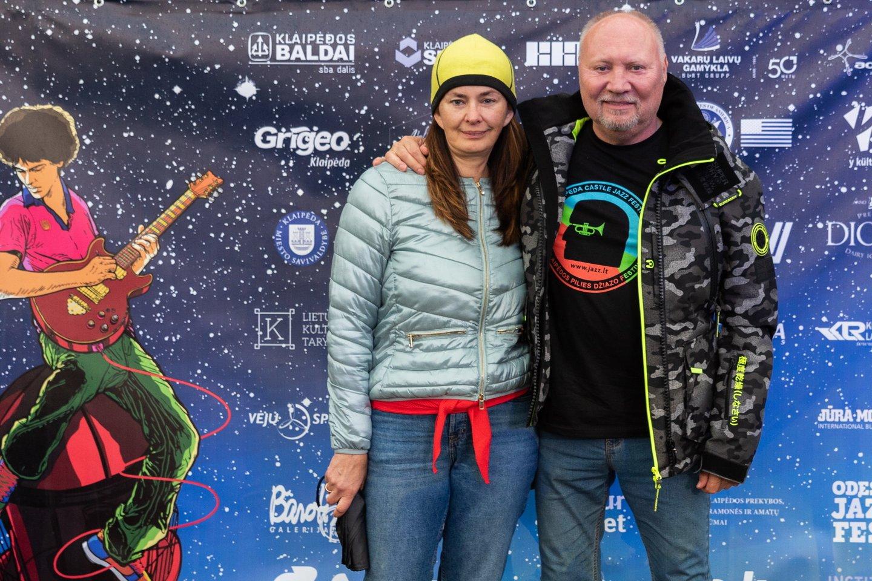 Aleksandras Ivanauskas-Fara su žmona Rima.<br>A.Kubaičio nuotr.