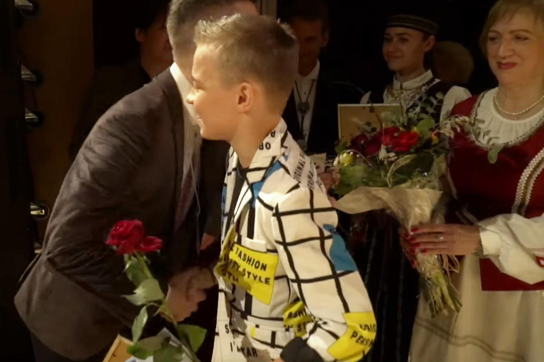 Nacionalinės atrankos vaikų grupės nugalėtojas Kristupas Kerulis.<br>G.Pilaičio nuotr.