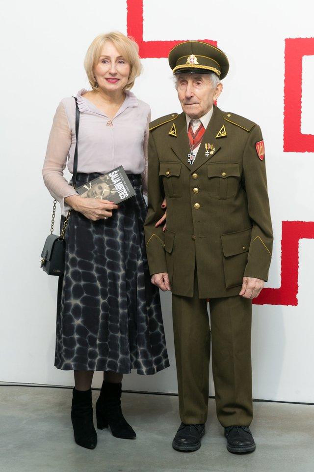 Juozas Jakavonis-Tigras su dukra Angele.<br>T.Bauro nuotr.