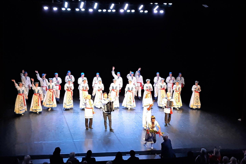 Žvejų rūmai. Baltarusių koncerto akimirka.<br>G.Pilaičio nuotr.