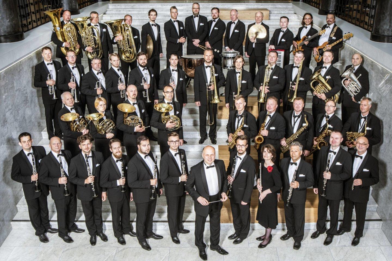 """Valstybinis pučiamųjų orkestras """"Trimitas"""".<br>Organizatorių nuotr."""