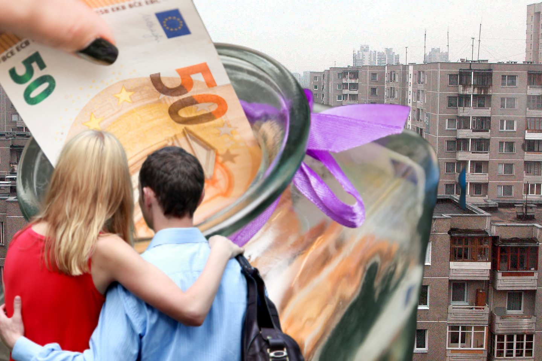 Maždaug 60 kv. m butas sostinėje, kuriam pora galėtų skirti 65–80 tūkst. eurų. Koks tai butas?<br>lrytas.lt montažas