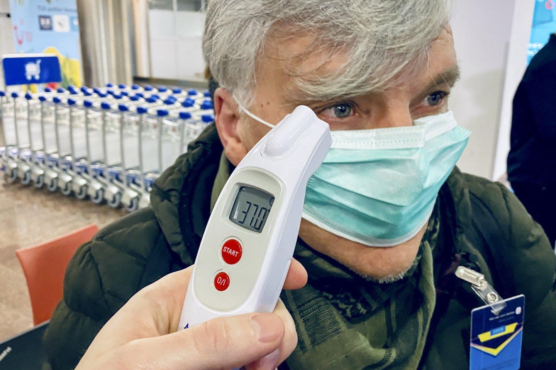 Lietuvoje nustatytas pirmasis koronaviruso atvejis.<br>V.Ščiavinsko nuotr.