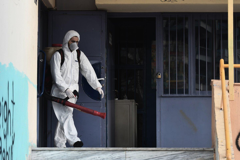 Lietuvoje nustatytas pirmasis koronaviruso atvejis.<br>AFP/Scanpix nuotr.