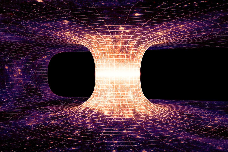 Kirmgraužos teorija – hipotetinė erdvėlaikio savybė, kuri leistų keliauti per erdvę ir laiką.<br>123rf iliustr.
