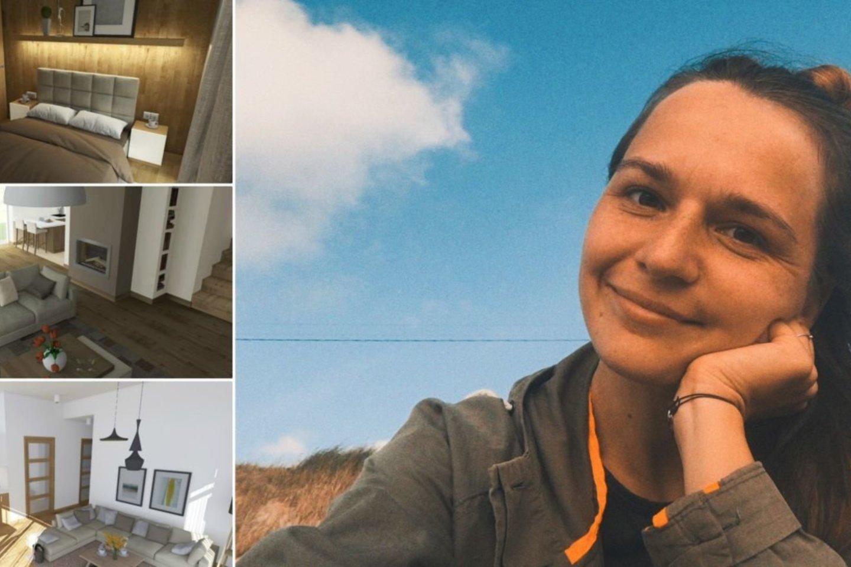 Interjero dizainerė Brigita Butkevičiūtė sako nuo pat mažens esanti užsispyrusi ir mėgstanti siekti savo tikslų, kad ir kaip sunku kartais būna.<br>Asmeninio archyvo nuotr.