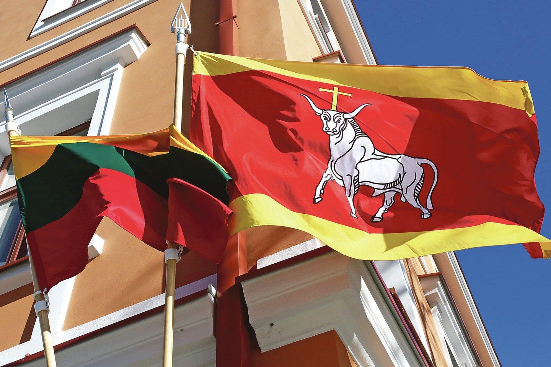 Yra kiemų ir pastatų, ant kurių trispalvės ar Lietuvos istorinės vėliavos su Vyčiu plevėsuoja nuolat.<br>M.Patašiaus nuotr.
