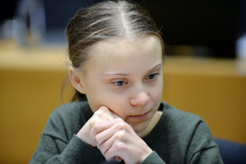 Tarptautinę moters dieną klimato aktyvistė Greta Thunberg socialiniuose tinkluose pasidalino mintimis apie pasaulyje vyraujančią moterų nelygybę. <br>Reuters/Scanpix nuotr.