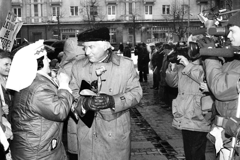 1990 metų kovo 11-oji.<br>P.Lileikio nuotr.