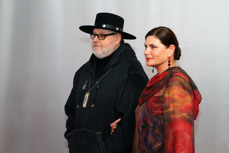 Virgis Stakėnas su žmona Ramute.<br>LR archyvo nuotr.