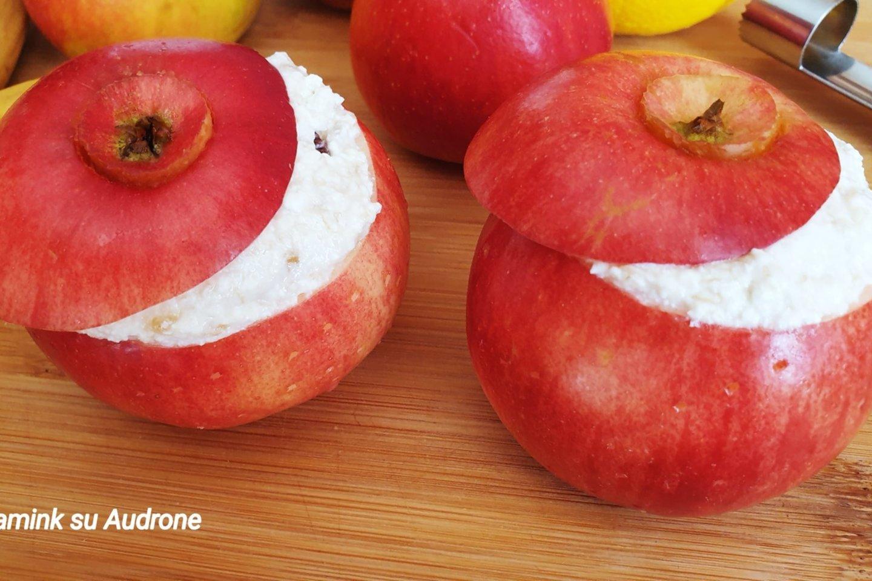 """Kepti obuoliai su bananų ir varškės įdaru.<br>Nuotr. iš """"Gamink su Audrone""""."""