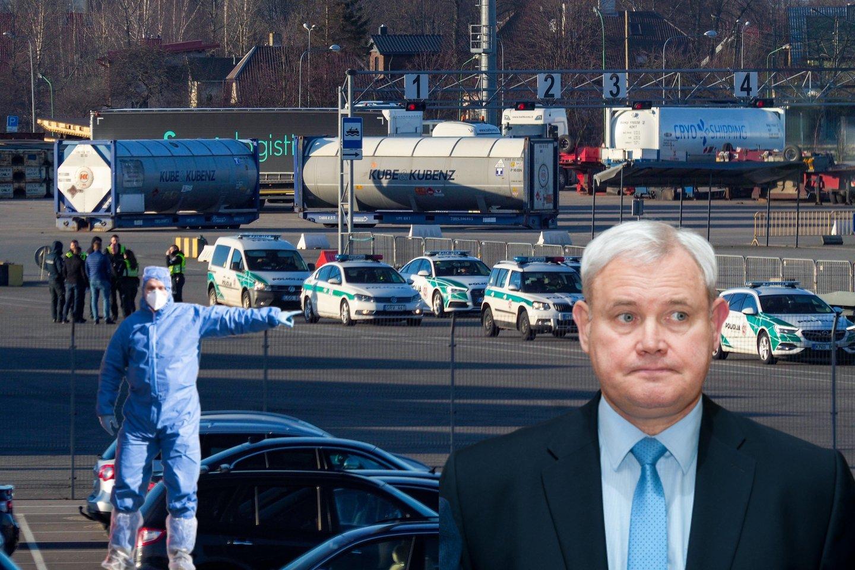 V.Grubliauskas pranešė apie tris naujus užsikrėtimo atvejus Klaipėdoje.<br>lrytas.lt montažas.
