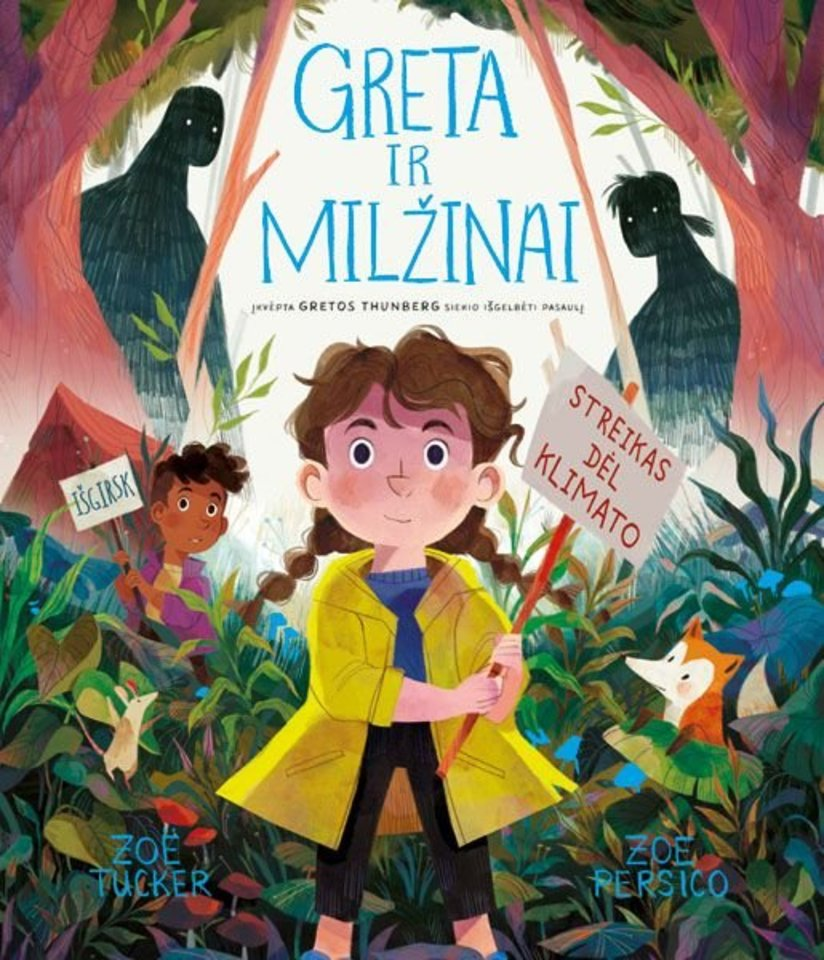 """Knyga vaikams """"Greta ir milžinai""""<br> """"Alma littera"""""""