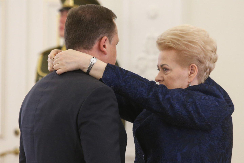 Evaldas Pašilis ir Dalia Grybauskaitė.<br>R.Danisevičiaus nuotr.
