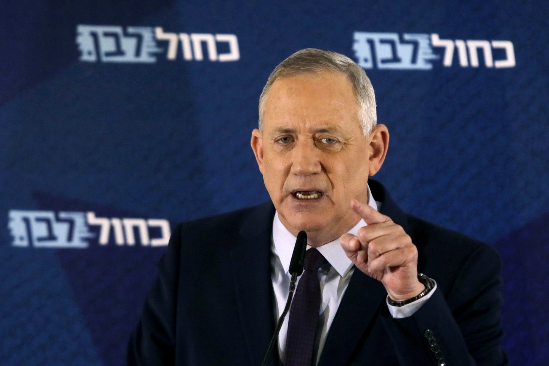 B. Gantzas siekia tapti Izraelio parlamento pirmininku.<br>AP/Scanpix nuotr.