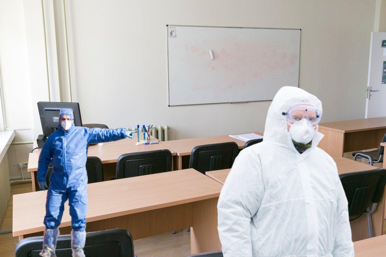 Lietuvoje prasidėjo mokymasis nuotoliniu būdu.<br>lrytas.lt montažas.