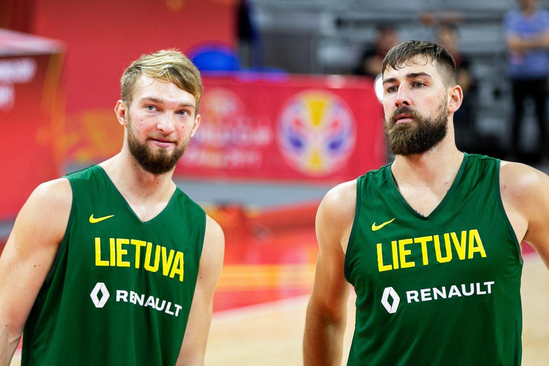 Domantas Sabonis ir Jonas Valančiūnas.<br>BNS/Scanpix.com nuotr