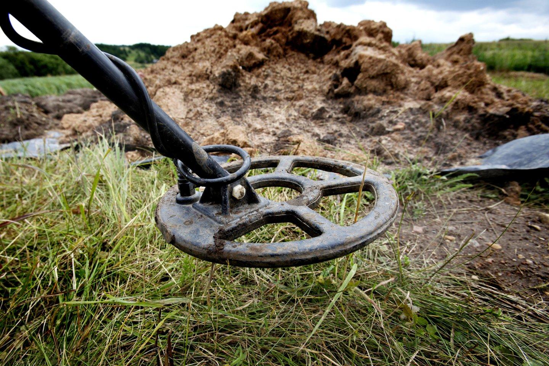 Metalo ieškiklis buvo sugadintas kirviu.<br>V.Balkūno asociatyvi nuotr.