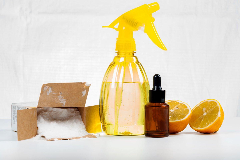 Natūralios valymo ir higienos priemonės yra sudarytos iš greitai yrančių medžiagų, todėl nekenkia aplinkai ir žmonių sveikatai.<br>123rf nuotr.