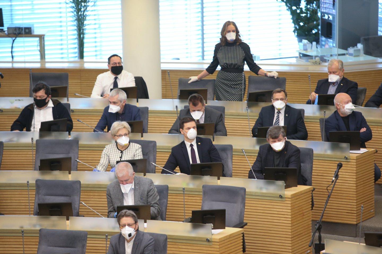 Seimo kanceliarija atskleidė, kad nerenka informacijos, kur keliavo Seimo nariai.<br>R.Danisevičiaus nuotr.