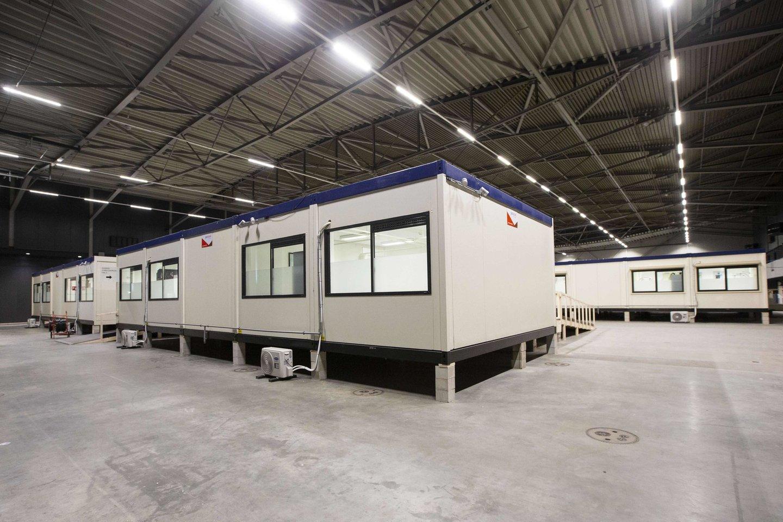 """Nyderlandų arena, kurioje turėjo vykti """"Eurovizijos"""" dainų konkursas, nuo penktadienio taps laikina ligonine koronavirusinės infekcijos (COVID-19) pacientams.<br>AFP/Scanpix nuotr."""