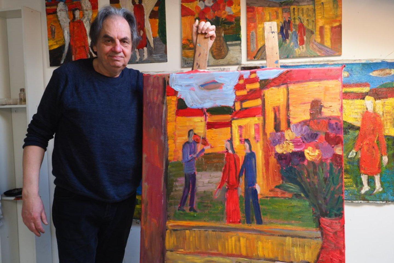 Pas tapytoją Raimondą Savicką.<br>Organizatorių nuotr.