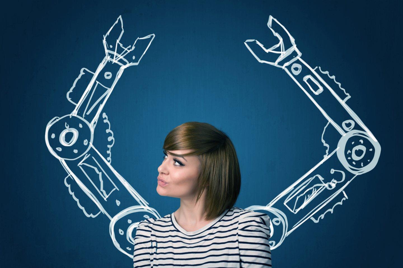 Lietuvos robotikos asociacija teigia, kad į robotizaciją ir gamybos automatizavimą investavusios pramonės įmonės veiklos nestabdo (asociatvinė nuotr.).<br>123rf nuotr.