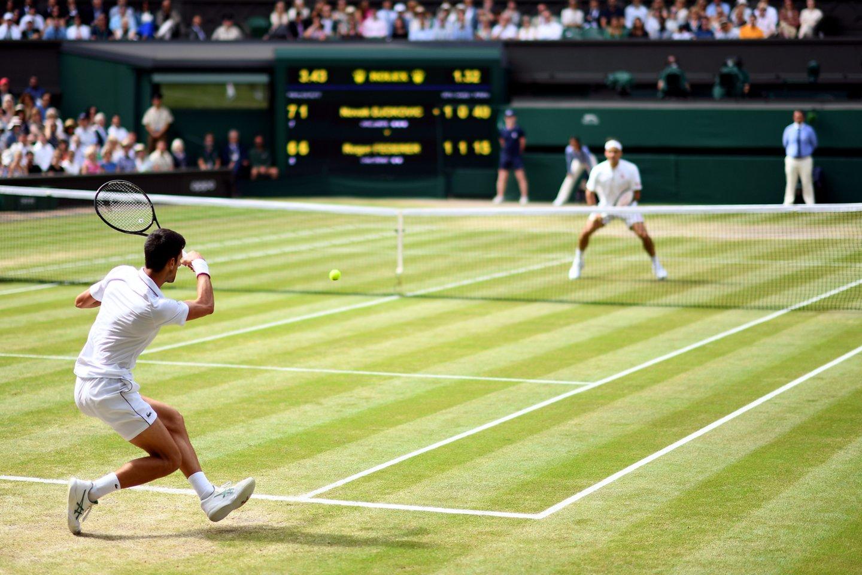 Vimbldono finalas: R.Federeris prie