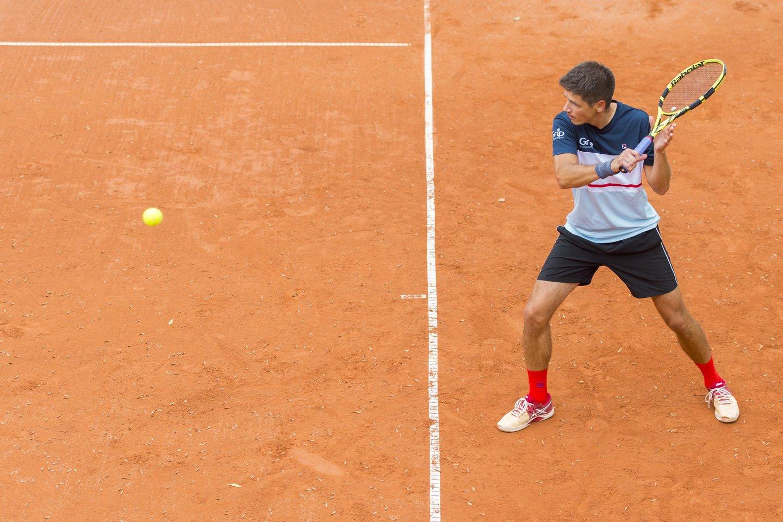 Profesionalių tenisininkų varžybos rengiamos tik ant trijų tipų dangų – kietos (hard – angl.), grunto ir žolės.<br>A.Četkausko nuotr.