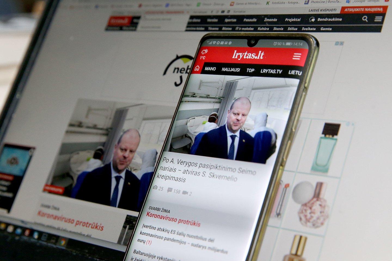 Portalas lrytas.lt pristato išmanesnę mobiliąją programėlę – sekti naujienas dar patogiau<br>R.Danisevičiaus nuotr.
