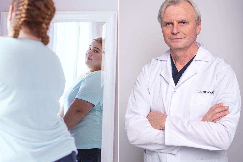Pasak G.Brimo, nutukimas yra didžiausias COVID-19 sergančių pacientų poreikio hospitalizuoti ir kritinės ligos būklės veiksnys.<br>123rf ir pranešimo autorių nuotr.