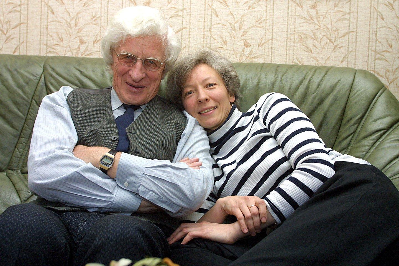 Kompozitorius V.Barkauskas su žmona Svetlana.<br>P.Lileikio nuotr.
