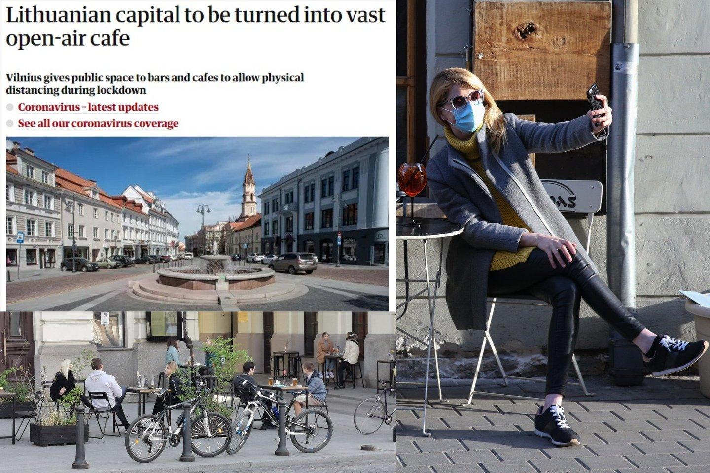 """Antradienį Vilnius minimas vieno skaitomiausių britų dienraščio """"The Guardian"""" interneto svetainėje.<br>Lrytas.lt fotomontažas."""