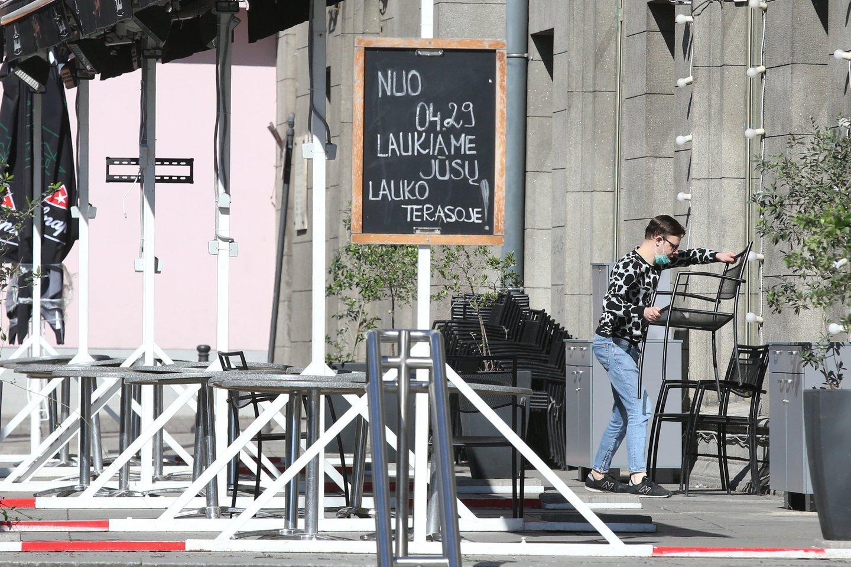Lauko kavinės.<br>R.Danisevičiaus nuotr.