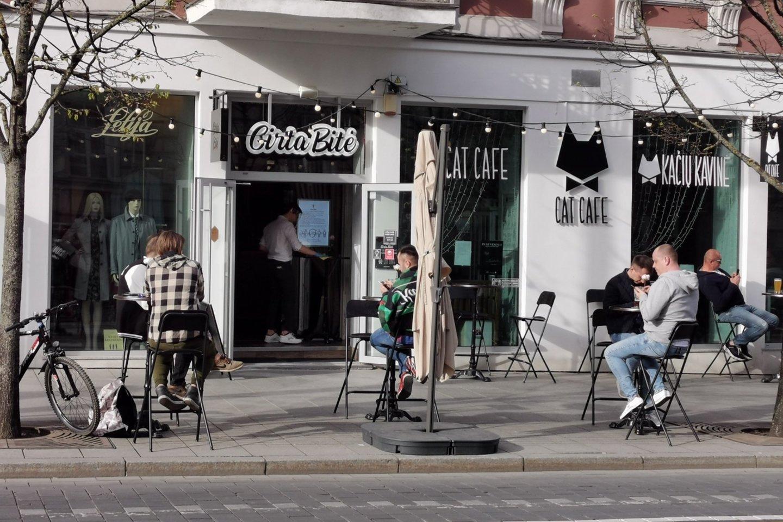 lauko kavinės,koronavirusas<br>R.Danisevičiaus nuotr.