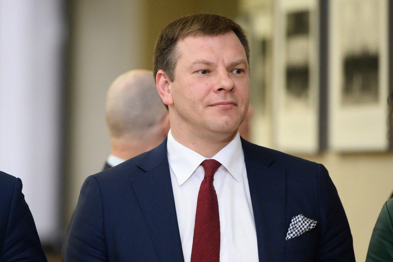 Balandžio mėnesį pajamų surinkimas buvo prastesnis nei kovą – surinkta apie 31,1 proc. mažiau nei prognozuota, teigė finansų ministras Vilius Šapoka.<br>V.Skaraičio nuotr.