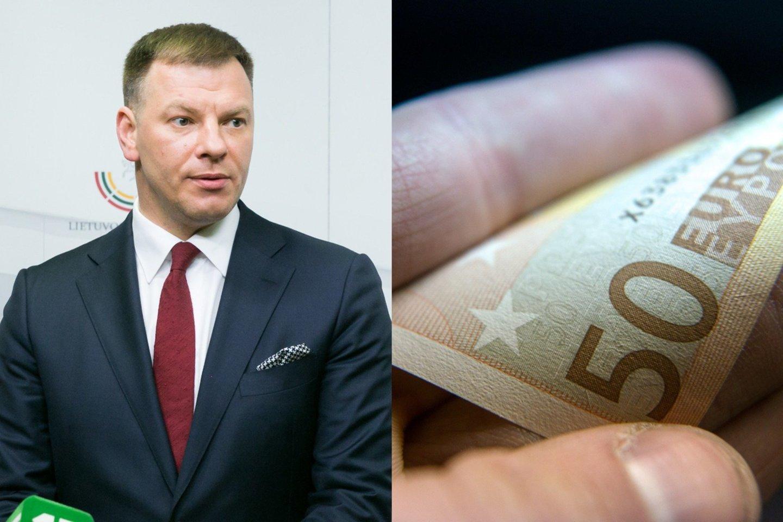 Balandžio mėnesį pajamų surinkimas buvo prastesnis nei kovą – surinkta apie 31,1 proc. mažiau nei prognozuota, teigė finansų ministras Vilius Šapoka.<br>lrytas.lt koliažas