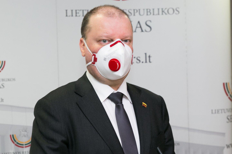 Lietuvos premjeras pranešė, kad su Latvijos ir Estijos vyriausybių vadovais pavyko sutarti dėl sienų atvėrimo.<br>T.Bauro nuotr.
