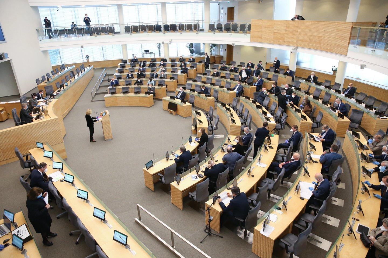 Anot P.Mačiulio, yra daug įstatyminių iniciatyvų, kurios neturėtų užgesti dėl viruso ar dėl artėjančių Seimo rinkimų.<br>R.Danisevičiaus nuotr.