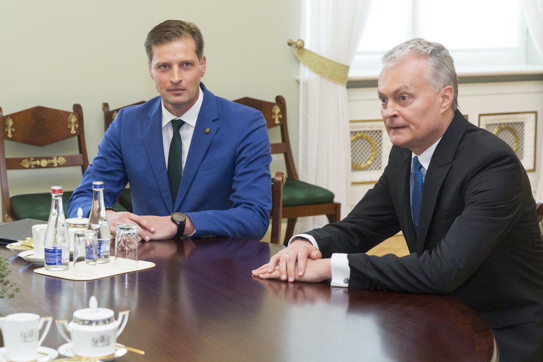 Kęstutis Mažeika Gitanas Nausėda<br>T.Bauro nuotr.