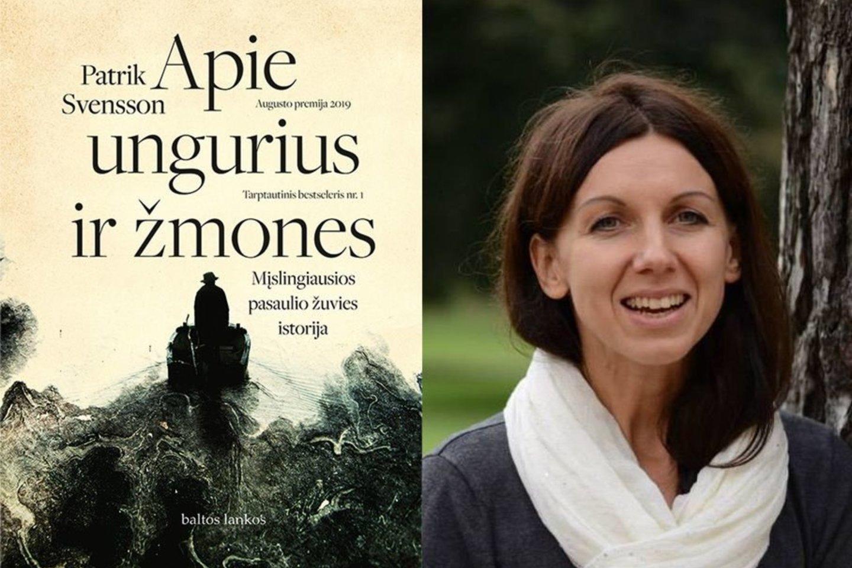 """Knygą """"Apie ungurius ir žmones. Mįslingiausios pasaulio žuvies istorija"""" A.Braškytė išvertė iš švedų kalbos.<br>A.Balbieriaus nuotr."""