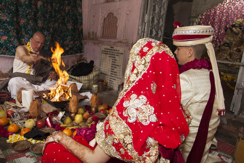 Vestuvių Indijoje akimirkos.<br>O.Vaitkūnas nuotr.