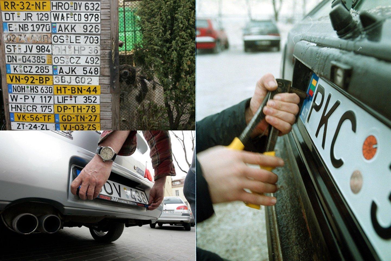 Šiandien vairuotojai neretai pageidauja pasirinkti ir jiems patinkančius raidžių ir skaičių derinius.<br>Lrytas.lt fotomontažas.