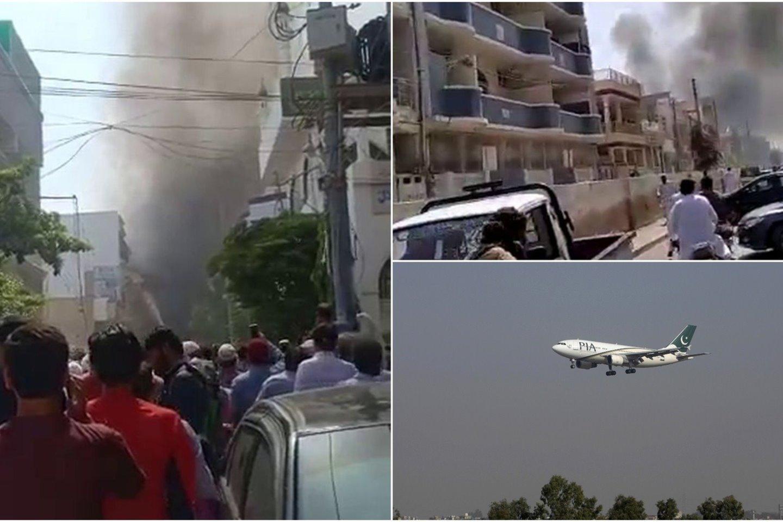 Pakistane penktadienį nukrito keleivinis lėktuvas, kuriuo skrido 99 žmonės. Lėktuvas skrido iš Lahoro miesto į didžiausią šalies miestą Karačį.<br>lrytas.lt koliažas