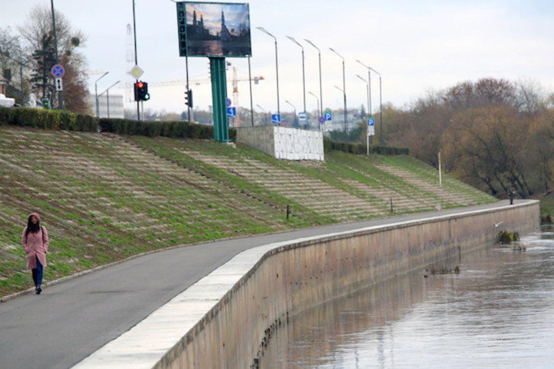 Kaune išgelbėtas žvejys, mėginęs ištraukti iš Nemuno dviratį.<br>G.Bitvinsko nuotr.