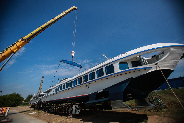 Atnaujintas laivas į vandenį pirmą kartą buvo nuleistas prieš metus.<br>G.Bitvinsko nuotr.