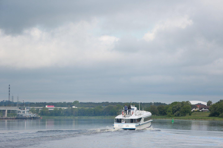 Raketa, raketos nuleidimas į vandenį, maršrutas Kaunas- Nida<br>G.Bitvinsko nuotr.